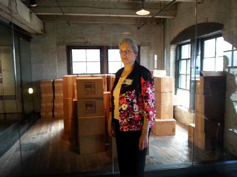 Nancy at the Book Depository Museum in Dallas, Texas
